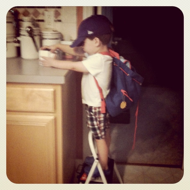 Backpack, ready for school