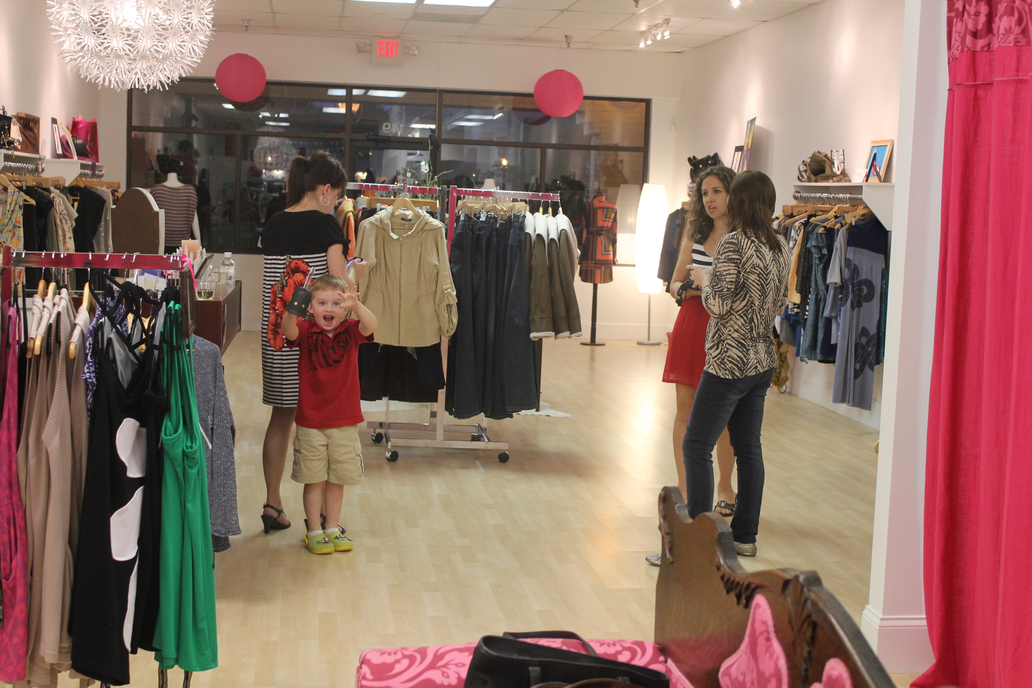 aea14fc5c Checking out the latest fashions Such a cute shop Happy shopper