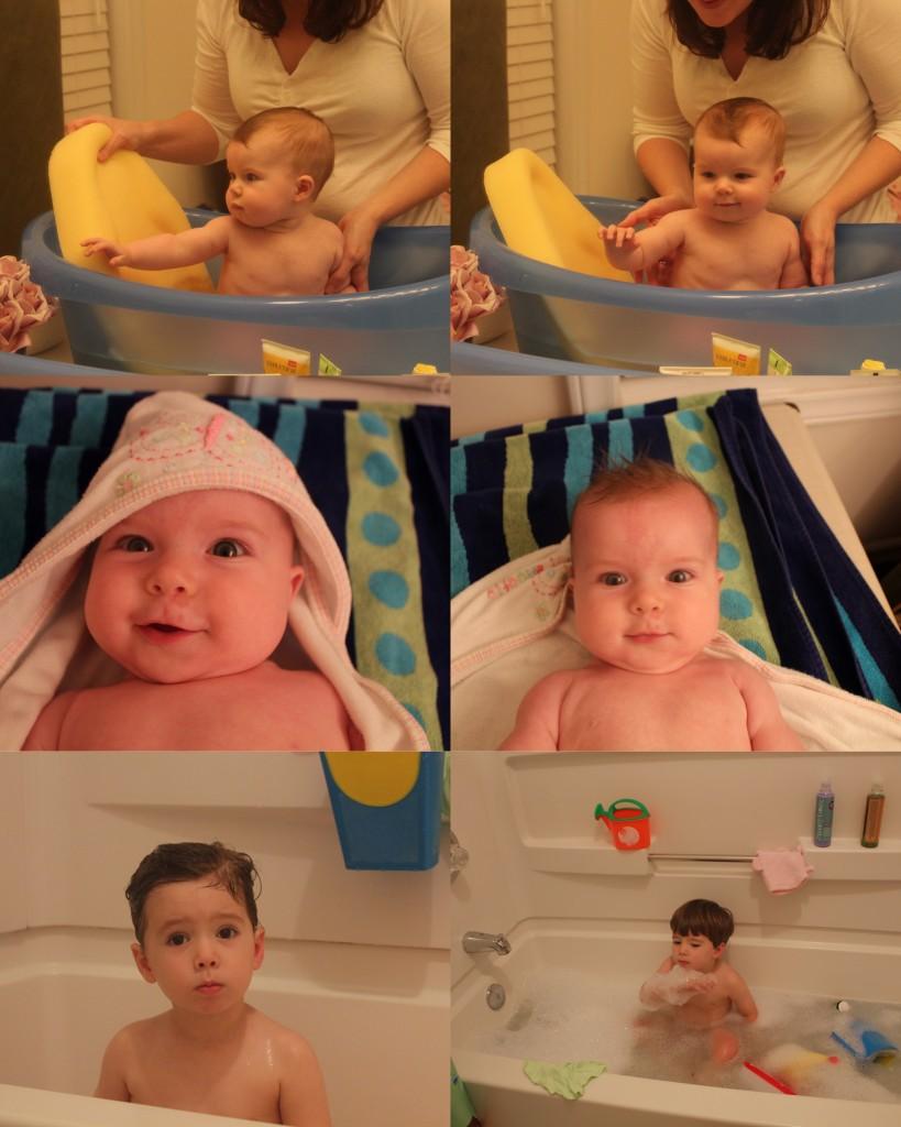 Bath time with kiddos