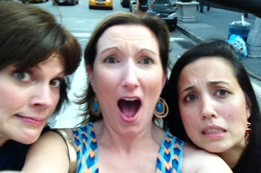 Andrea, me and Roo in our pedicab in NY
