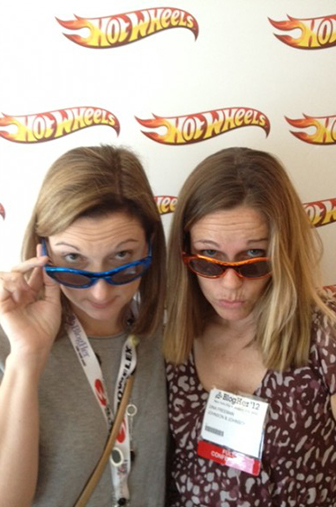 Me and Dina at the Hot Wheels Suite