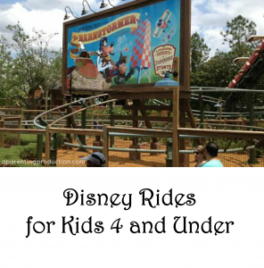 Disney Rides: The Four and Under Edition