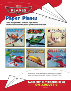 Disney Planes Paper Airplane Tutorial