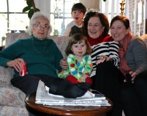 Four generations of Hoffmann ladies