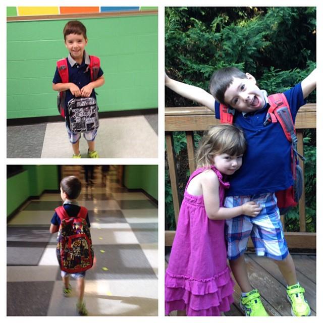 first day of kindergarten - aidan