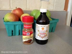 homemade applesauce ingrediants