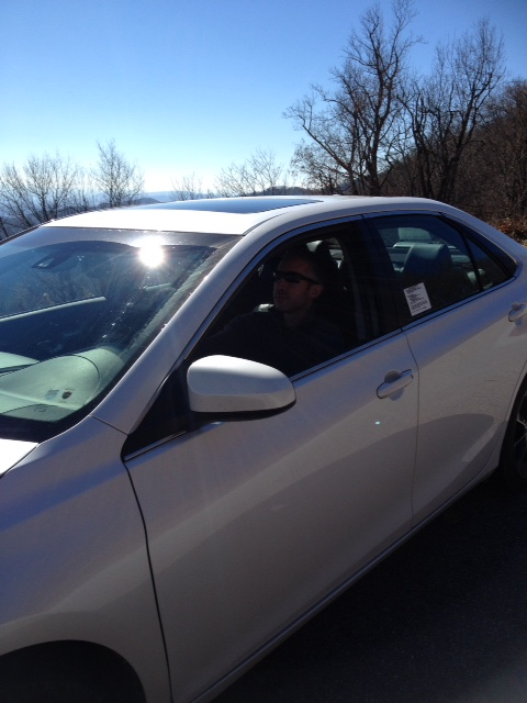 Hubby in the Camry