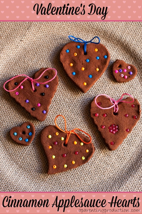 Valentine's Day Cinnamon Applesauce Heart Craft