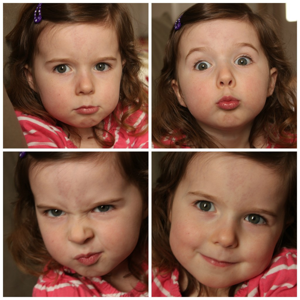 Four year old faces