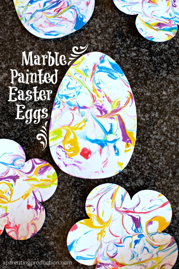 Beautiful Marble Painted Easter Craft