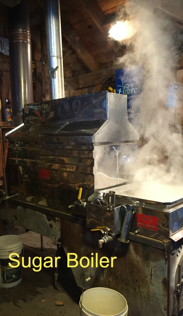 This bad boy boils the sap until it becomes the maple syrup we love