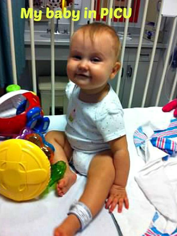 Baby Elliette in PICU
