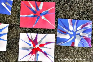 July Fourth Firework Spin Art
