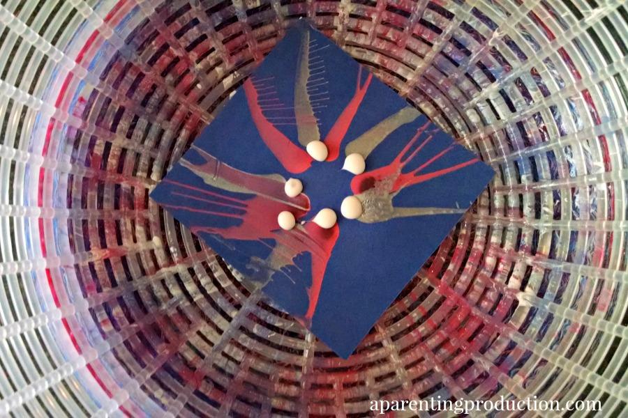 firework spin art