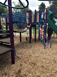 Jumping and Climbing at the Playground