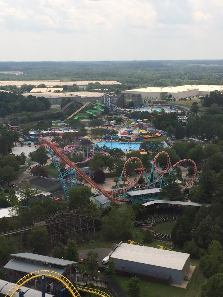 View from Carolina SkyTower Carowinds