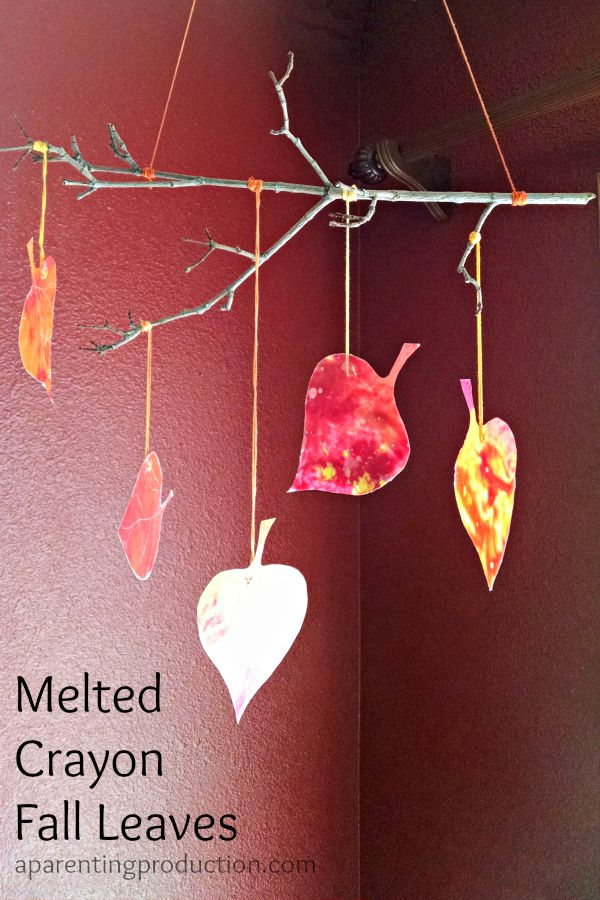 melted crayon fall craft