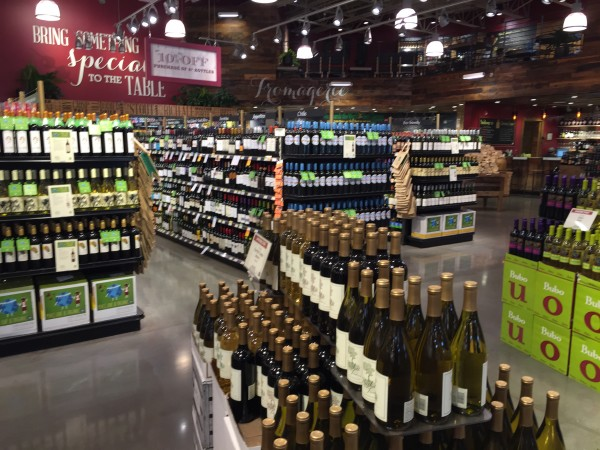 Wine and the grocery store.  SERIOUSLY!?