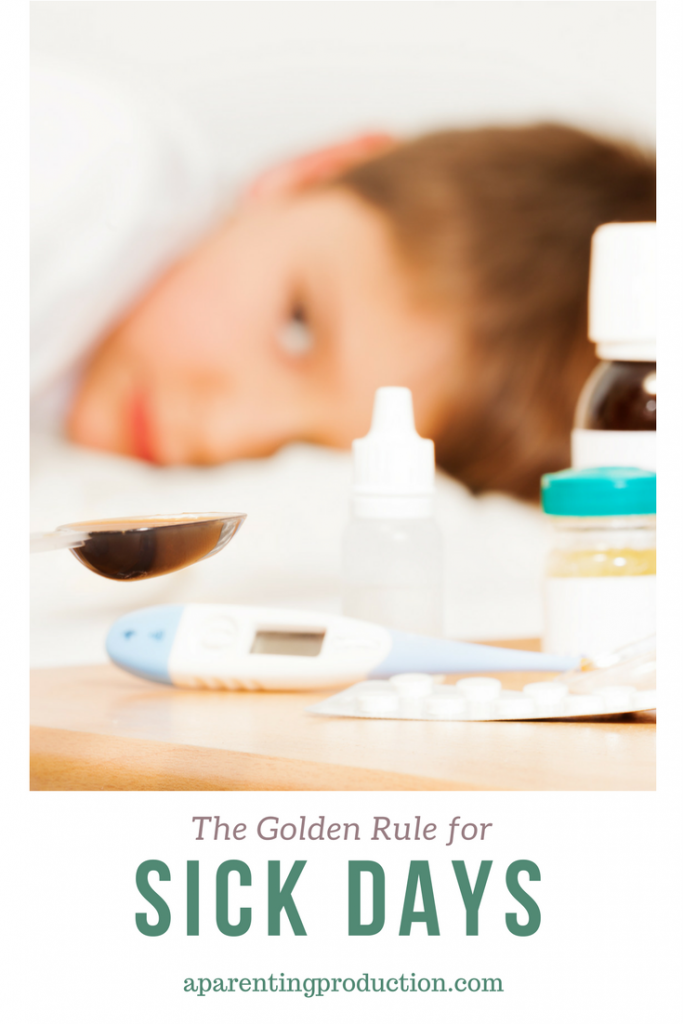 A reminder for parents - the golden rule of sick days