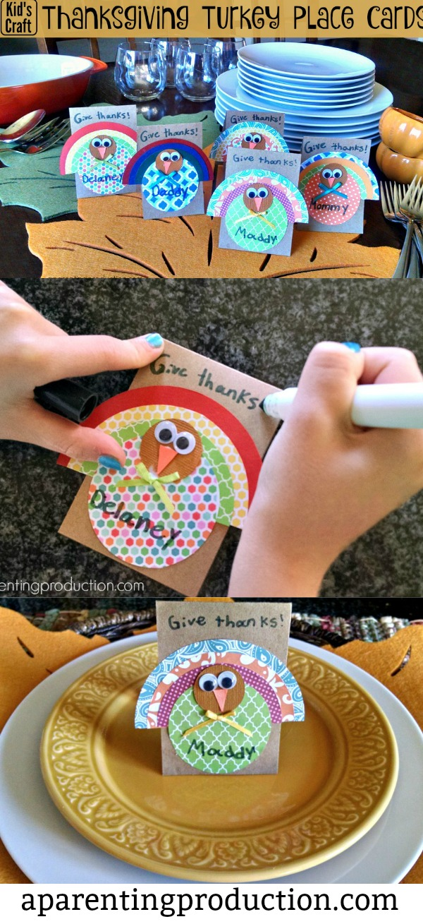 Thanksgiving Craft - turkey place cards