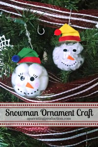 Christmas Craft: Make Your Own Snowman Ornament