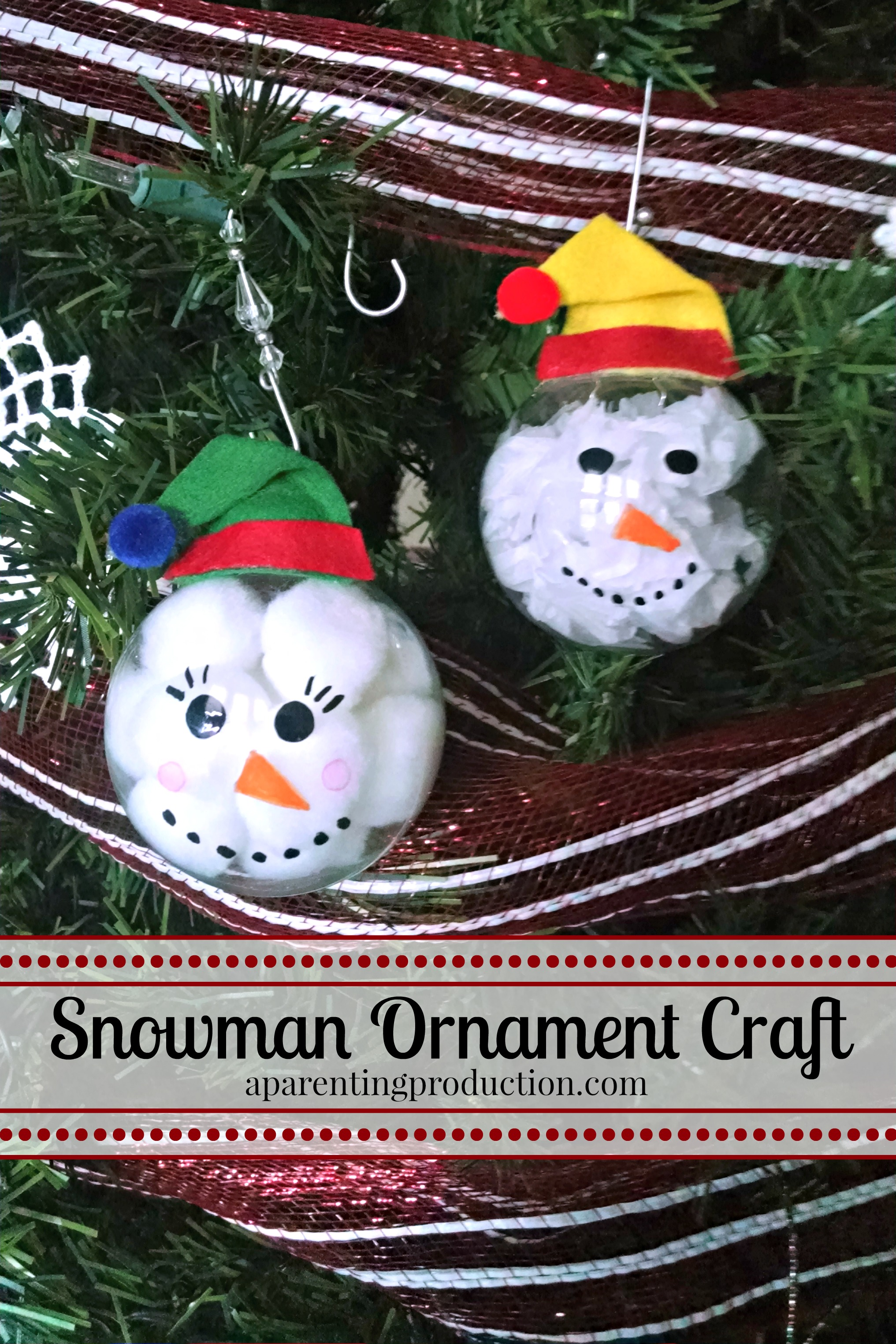 snowman ornament craft for kids - How To Make Your Own Christmas Decorations