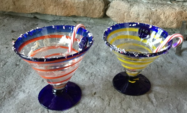 We may have only had margarita glasses, but that didn't stop us from drinking this martini!