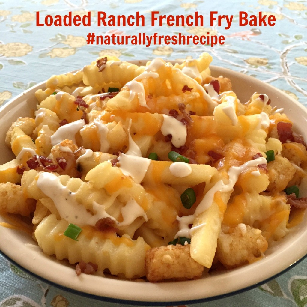 Loaded Ranch French Fry Bake