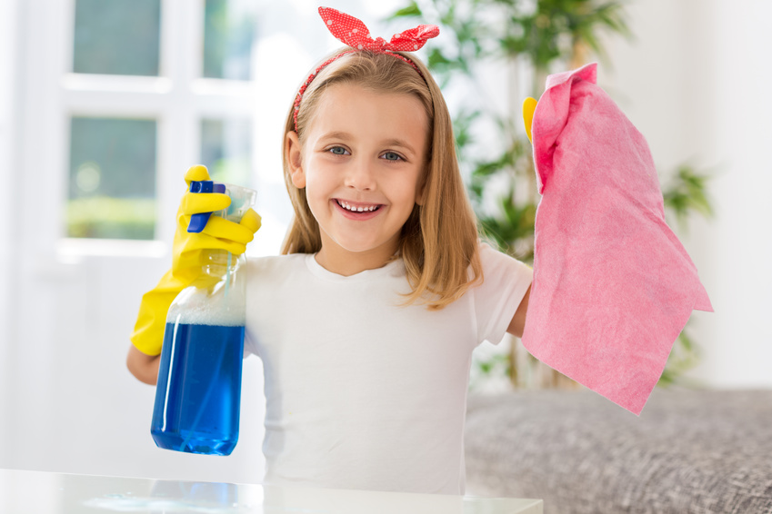 Time to teach the kids how to clean