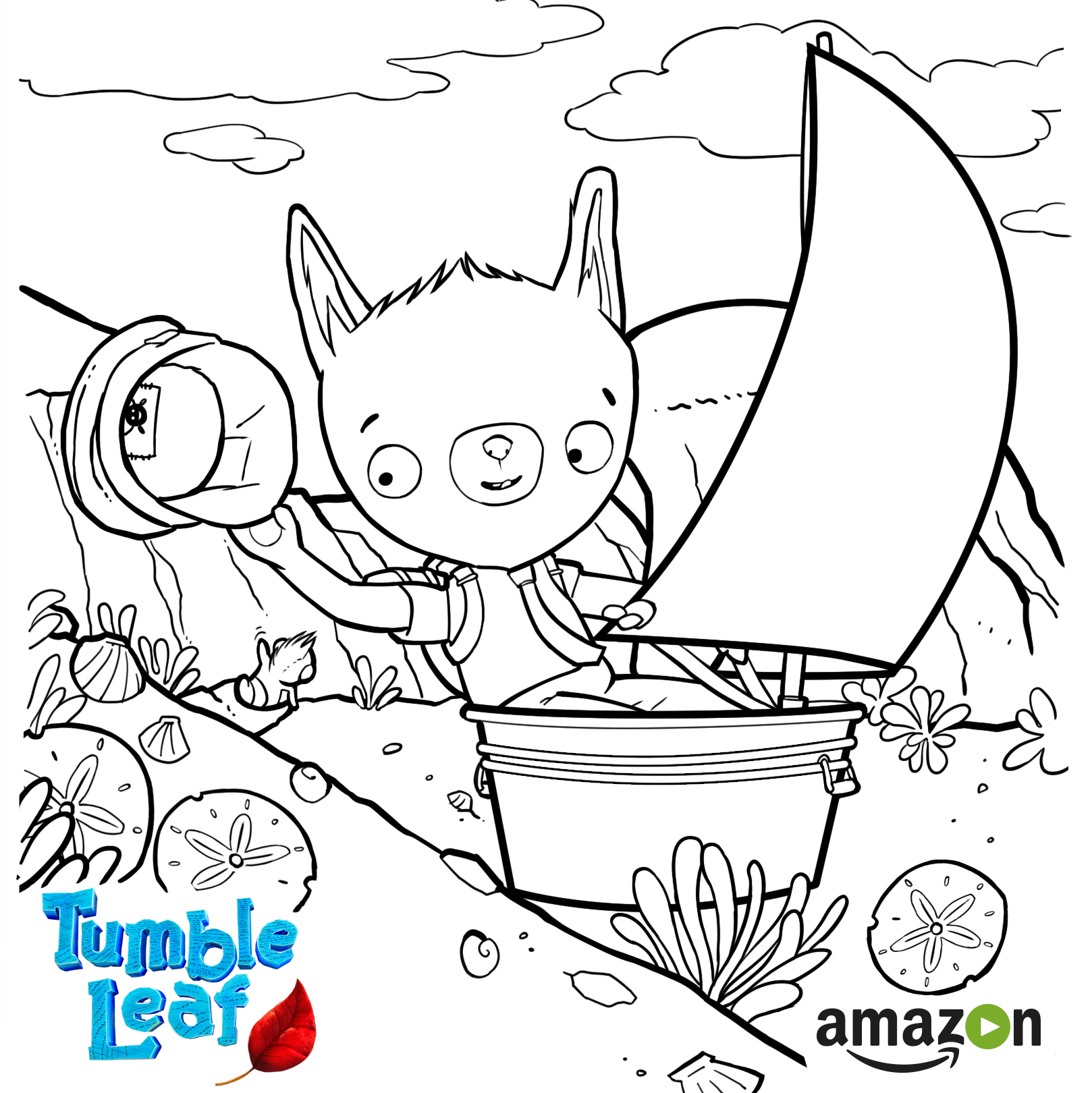 tumble leaf coloring pages Tumble Leaf Coloring Page   tumble leaf coloring pages