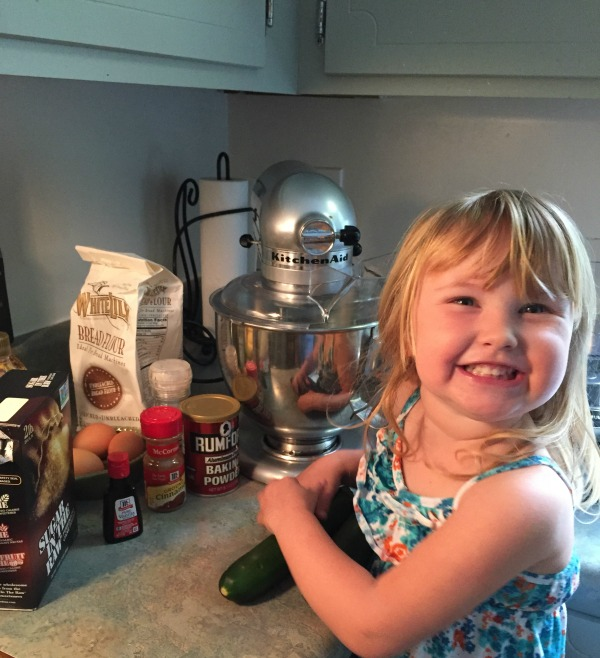 My littlest loves helping me bake!