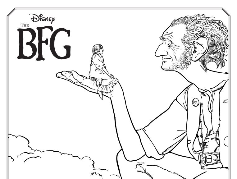the bfg kids coloring pages and other activities