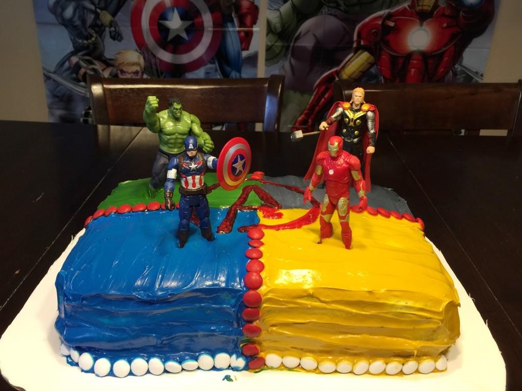DIY Avenger Bday Cake
