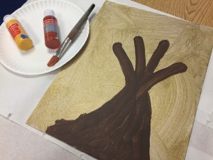 "Fall craft for kids: ""Hand-Painted"" Family Tree"