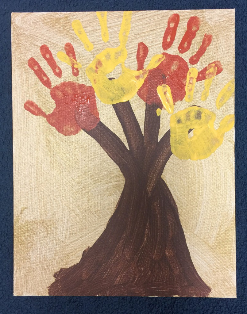 Perfect Fall Craft for Kids - Hand Painted Family Tree