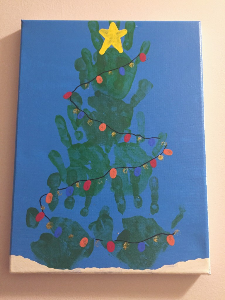Christmast Tree Handprint Craft