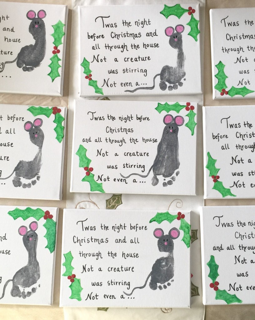 Mouse Footprint Canvas - gift idea