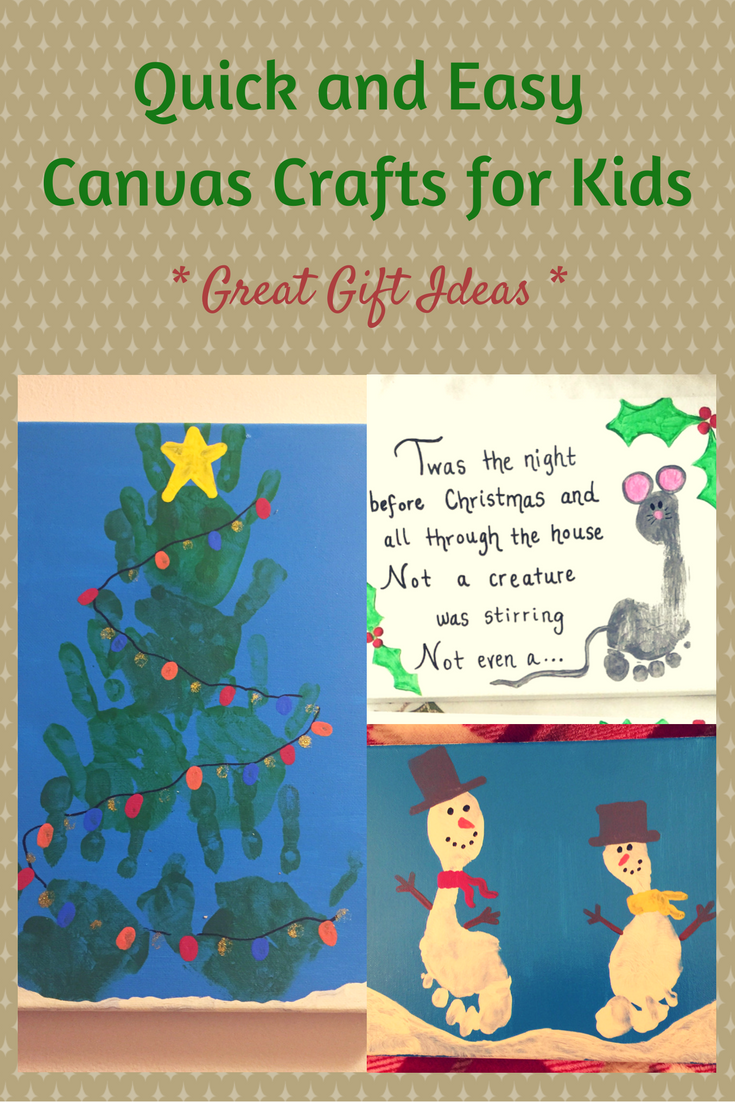 Canvas Crafts For Kids Great Gift Ideas
