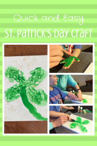 Handprint Shamrock: a quick and easy St. Patrick's Day craft