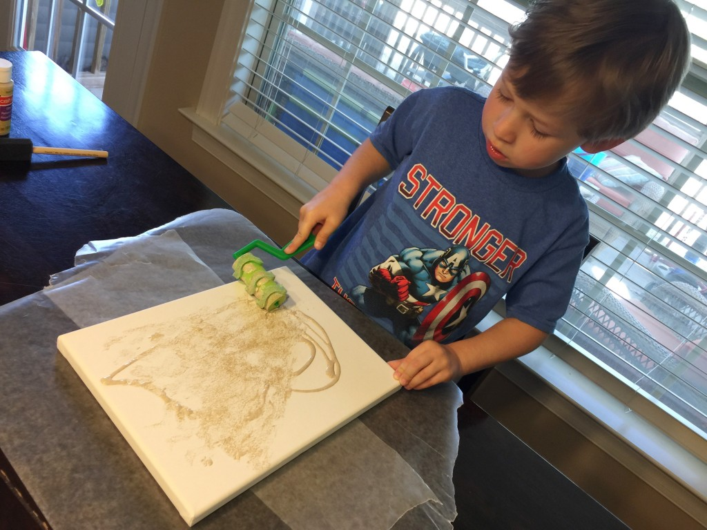 Child Painting Canvas