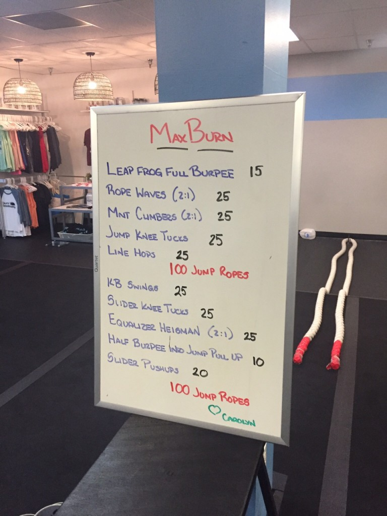 White Board Workout from Burn Boot Camp