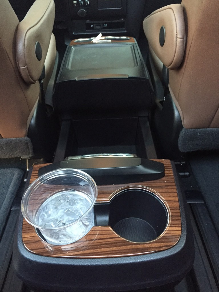 Movable cup holders