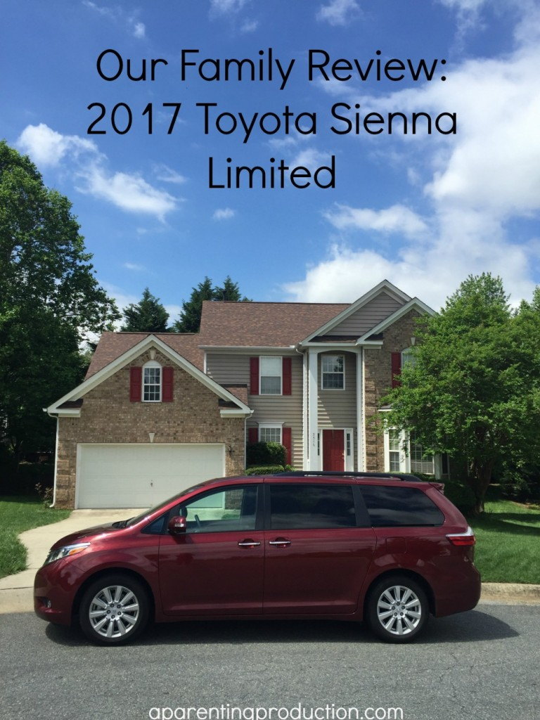 What our family thought of the 2017 Toyota Sienna Limited