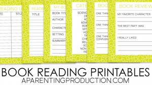 Keep track of summer reading with these printables