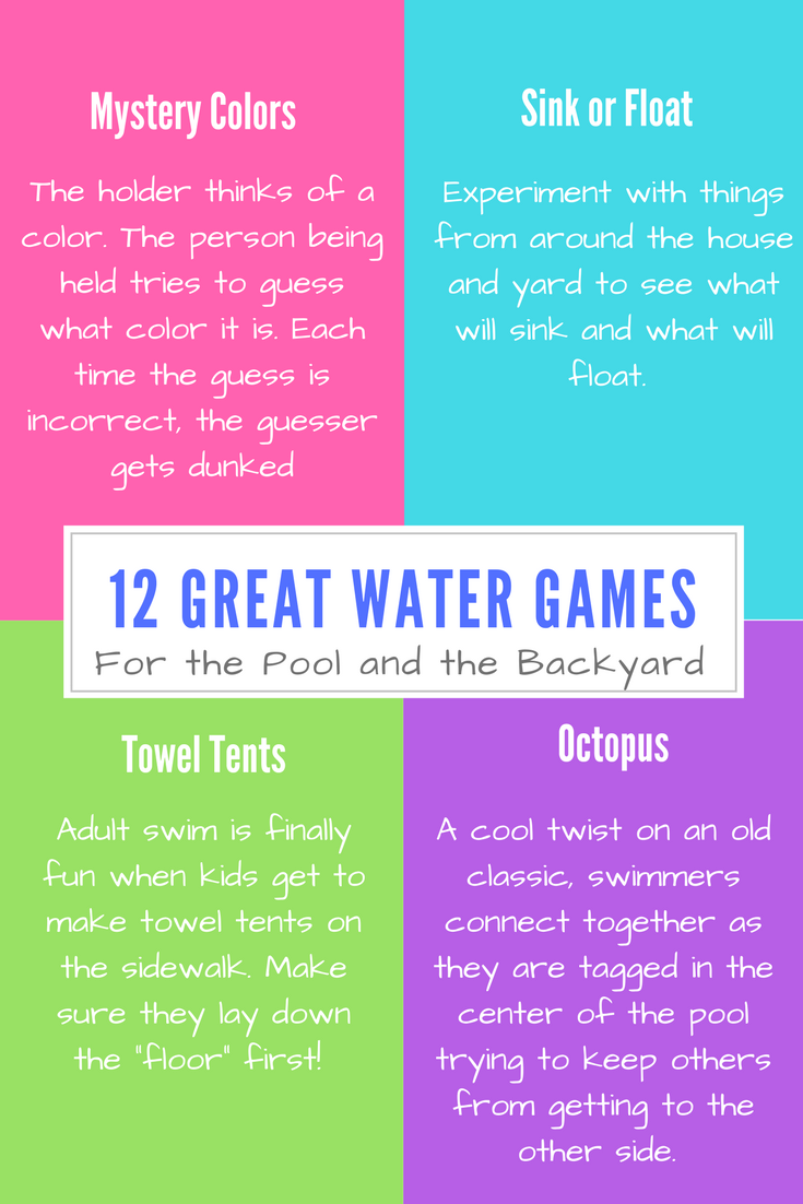 12 water games for the pool and backyard