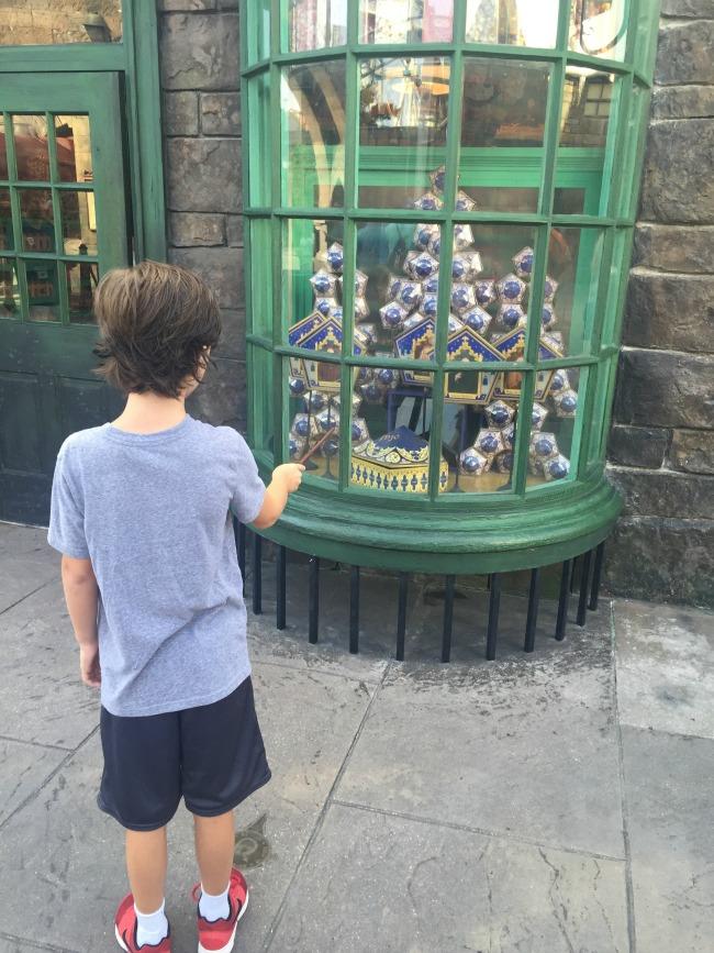 Casting spells in Hogsmeade