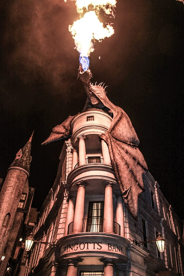 Gringotts with fire
