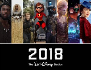 Walt Disney Studios Movies for 2018