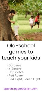 7 old school games to teach your kids